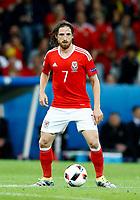 Joe Allen (Wales) <br /> Lille 01-07-2016 Stade Pierre Mauroy Football Euro2016 Wales - Belgium / Galles - Belgio <br /> Quarter-finals. Foto Matteo Ciambelli / Insidefoto