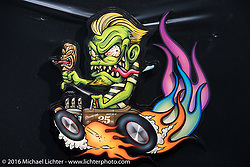 One of the Crazy Cut Out Paint Contest entries at the Mooneyes Yokohama Hot Rod & Custom Show. Yokohama, Japan. December 3, 2016.  Photography ©2016 Michael Lichter.