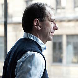 PARIS, FRANCE. NOVEMBER 9, 2011. Hugh Carnegy, Financial Times' European Managing Editor in his office. Photo: Antoine Doyen