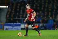 Phil Jones of Manchester United in action. Premier league match, Everton v Manchester United at Goodison Park in Liverpool, Merseyside on Sunday 4th December 2016.<br /> pic by Chris Stading, Andrew Orchard sports photography.