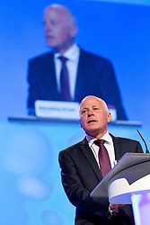 © Licensed to London News Pictures. 30/09/2012. Manchester, UK . Michael Cashman speaks to the audience in the conference hall . Labour Party Conference Day 1 at Manchester Central . Photo credit : Joel Goodman/LNP