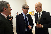 DAVID PELTZ; TIMOTHY TAYLOR; ALEX KATZ, Alex Katz opening. Timothy Taylor gallery. London. 3 March 2010.