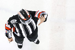 Referee during ice hockey match between HDD Olimpija Ljubljana and Dornbirner EC in Erstebank league season 2016/17, on October 24, 2016 in Hala Tivoli, Ljubljana, Slovenia. Photo by Morgan Kristan / Sportida