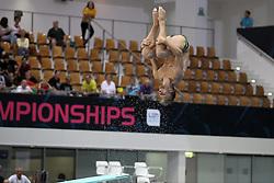 19.08.2014, Europa Sportpark, Berlin, GER, LEN, Schwimm EM 2014, Wasserspringen, 1m, Männer, Vorkampf, im Bild Fabian Brandl (Oesterreich) // during the men's 1m Diving preliminaries of the LEN 2014 European Swimming Championships at the Europa Sportpark in Berlin, Germany on 2014/08/19. EXPA Pictures © 2014, PhotoCredit: EXPA/ Eibner-Pressefoto/ Lau<br /> <br /> *****ATTENTION - OUT of GER*****