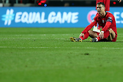 March 22, 2019 - Lisbon, Portugal - Portugal's forward Cristiano Ronaldo reacts during the UEFA EURO 2020 group B qualifying football match Portugal vs Ukraine, at the Luz Stadium in Lisbon, Portugal, on March 22, 2019. (Credit Image: © Pedro Fiuza/NurPhoto via ZUMA Press)