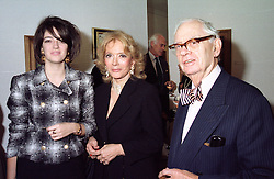 Left to right, the HON.PETRONELLA WYATT and her parents <br /> LORD & LADY WYATT in November 1995.   LLC 30