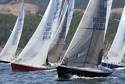 The Clyde Cruising Club's Scottish Series held on Loch Fyne by Tarbert. Day 2 racing in a perfect southerly<br /> <br /> Sonata, Fleet , Start