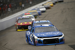 July 22, 2018 - Loudon, New Hampshire, United States of America - Kyle Larson (42) battles for position during the Foxwoods Resort Casino 301 at New Hampshire Motor Speedway in Loudon, New Hampshire. (Credit Image: © Justin R. Noe Asp Inc/ASP via ZUMA Wire)