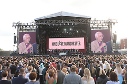 ***FREE FOR EDITORIAL USAGE***BYLINE MUST READ: DAVE HOGAN / ONE LOVE MANCHESTER***STRICTLY NO MERCHANDISING USAGE ALLOWED*** Performers including Ariana Grande, Miley Cyrus, Chris Martin, Jesy Nelson, Perrie Edwards, Leigh-Anne Pinnock, Jade Thirlwall, Pharrell Williams, Robbie Williams and Katy Perry perform at the One Love Manchester benefit concert.<br /> 
