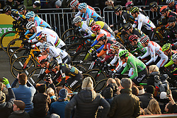 December 26, 2018 - Heusden-Zolder, BELGIUM - Illustration picture shows the start of the men Elite race of the seventh stage (out of nine) in the World Cup cyclocross, Wednesday 26 December 2018 in Heusden-Zolder, Belgium. BELGA PHOTO DAVID STOCKMAN (Credit Image: © David Stockman/Belga via ZUMA Press)