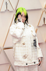 Billie Eilish at the 92nd Academy Awards held at the Dolby Theatre in Hollywood, USA on February 9, 2020.