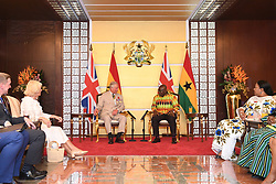 The Prince of Wales and Duchess of Cornwall meeting Ghanaian President Nana Akufo-Addo and First Lady Rebecca Akufo-Addo at Jubilee House in Accra, Ghana, on day three of their trip to west Africa.