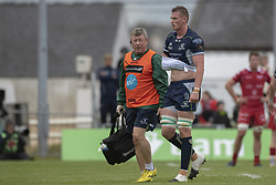 September 22, 2018 - Galway, Ireland - Gavin Thornbury of Connacht injured leaves the pitch during the Guinness PRO14 match between Connacht Rugby and Scarlets at the Sportsground in Galway, Ireland on September 22, 2018  (Credit Image: © Andrew Surma/NurPhoto/ZUMA Press)