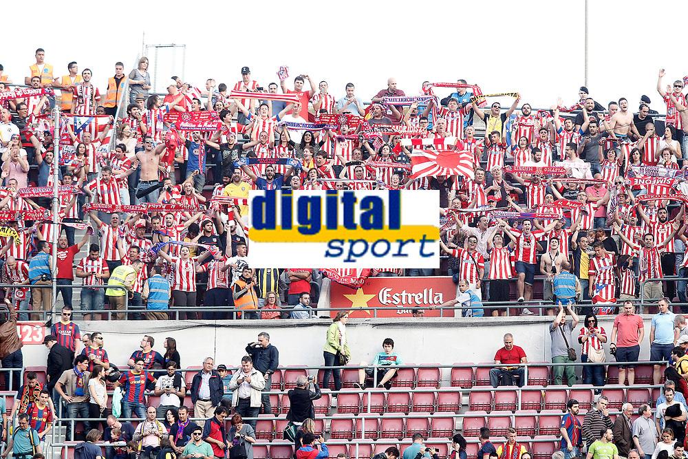 Atletico de Madrid's suporters celebrate the victory in La Liga 2013/2014 championship.May 17,2014. (ALTERPHOTOS/Acero)