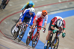 March 2, 2019 - Pruszkow, Poland - Szymon Sajnok (POL) competes in the Men's Omnium on day four of the UCI Track Cycling World Championships held in the BGZ BNP Paribas Velodrome Arena on March 02 2019 in Pruszkow, Poland. (Credit Image: © Foto Olimpik/NurPhoto via ZUMA Press)