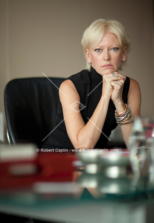Joanna Coles, new editor-in-chief of Cosmopolitan Magazine and former editor of Marie Claire Magazine... Photo by Robert Caplin