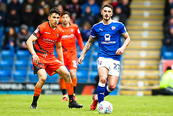 Bradley Barry of Chesterfield takes on Luke O'Nien of Wycombe Wanderers - Mandatory by-line: Robbie Stephenson/JMP - 28/04/2018 - FOOTBALL - Proact Stadium - Chesterfield, England - Chesterfield v Wycombe Wanderers - Sky Bet League Two