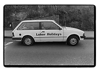 A (Freddy) Laker Holidays car, South East London, 1982. South-East London, 1982