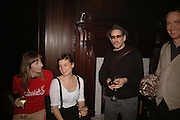 Antonia Guinness Grant, Marianne Souloumiac and Peter Lewis, Viewing of 'Petit Mal'  by Paul Fryer. The Grecian Temple. Great Eastern Hotel. 40 Liverpool St. London. EC2M 7QN. ONE TIME USE ONLY - DO NOT ARCHIVE  © Copyright Photograph by Dafydd Jones 66 Stockwell Park Rd. London SW9 0DA Tel 020 7733 0108 www.dafjones.com
