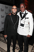 New York, NY- May 22: (L-R) Documentary Photographer Jamel Shabazz (Honoree) and Kazeem Dean aka Swizz Beatz attend the Gordon Parks Foundation Awards Dinner & Auction: Celebrating the Arts & Humanitarianism held at Cipriani 42nd Street on May 22, 2018 in New York City.   (Photo by Terrence Jennings/terrencejennings.com)
