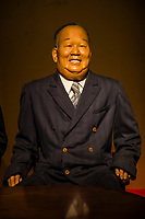 Japanese statesman at Heike Monogatari Wax Museum - The rise and fall of the Heike clan is reproduced in a massive scale using 260 wax figures, in seventeen scenes using historical dioramas. There is also a gallery introducing famous persons from Shikoku and Japan such as prime ministers, baseball players, enka singers and more.  This is the largest wax museum in Japan.  It's main theme, of course is the history of the genpei war, narrated by a lute playing priest.