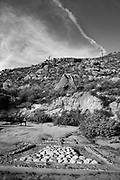 Mt. Rubidoux Black and White Photo