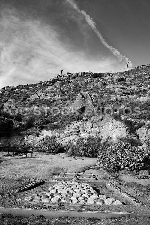 Mt. Rubidoux Black and White Photo