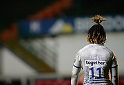 Sale Sharks wing Marland Yardeduring a Gallagher Premiership Round 7 Rugby Union match, Friday, Jan. 29, 2021, in Leicester, United Kingdom. (Steve Flynn/Image of Sport)
