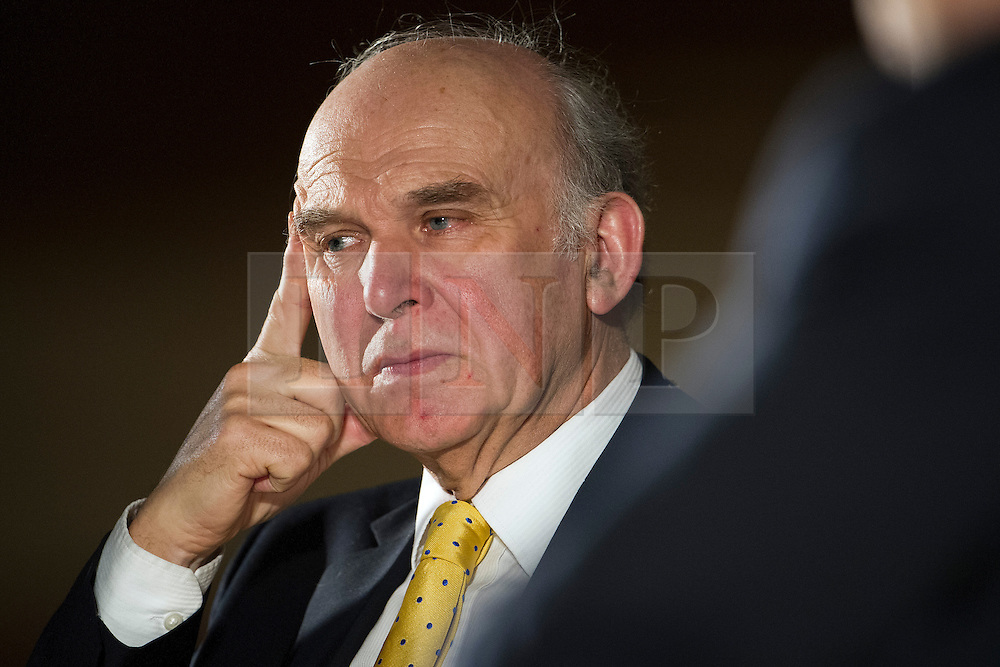 © London News Pictures. 14/03/2013 . London, UK.   Secretary of State for Business Vince Cable taking part in a panel discussion at the British Chambers of Commerce annual conference at Central Hall, Westminster, London on  Thursday, March 14, 2013. Photo credit : Ben Cawthra/LNP