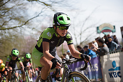 Rosella Ratto approaches the top of Kemmelberg at Women's Gent Wevelgem 2017. A 145 km road race on March 26th 2017, from Boezinge to Wevelgem, Belgium. (Photo by Sean Robinson/Velofocus)
