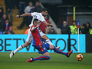 Chelsea's Diego Costa fires in a shot during the Premier League match at Selhurst Park Stadium, London. Picture date December 17th, 2016 Pic David Klein/Sportimage