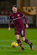 Michael Smith (#2) of Heart of Midlothian FC during the SPFL Championship match between Dunfermline Athletic and Heart of Midlothian at East End Park, Dunfermline, Scotland on 20 November 2020.