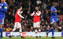Alexandre Lacazette of Arsenal reacts after missing a chance to score - Mandatory by-line: Arron Gent/JMP - 27/02/2020 - FOOTBALL - Emirates Stadium - London, England - Arsenal v Olympiacos - UEFA Europa League Round of 32 second leg