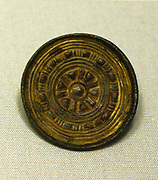 Gilded bronze brooch, Anglo Saxon 8th century AD