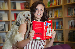 Britain's Got Talent winner Pudsey the dog at the launch of his 'autobiography' with owner Ashleigh Butler at Foyles bookshop in London, Wednesday , October 10th 2012 Photo by: i-Images