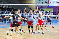Joie groupe Ajaccio - 04.12.2014 - Ajaccio / Izmir - 1/8finale Cev Cup<br />Photo : Jean Pierre Belzit / Icon Sport