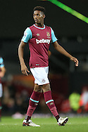 Reece Oxford of West Ham United looks on. The Emirates FA cup, 3rd round match, West Ham Utd v Wolverhampton Wanderers at the Boleyn Ground, Upton Park  in London on Saturday 9th January 2016.<br /> pic by John Patrick Fletcher, Andrew Orchard sports photography.