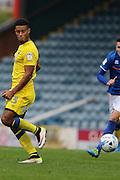 AFC Wimbledon striker Lyle Taylor (33) with a back heel pass during the EFL Sky Bet League 1 match between Rochdale and AFC Wimbledon at Spotland, Rochdale, England on 27 August 2016. Photo by Stuart Butcher.