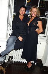 Left to right, FRAN CUTLER and DAVINIA TAYLOR at a party hosted by Franc Roddam and Frost French to celebrate the publication of Margarita's Olive Press by Rodney Sheilds held at No1 Greek Street, Soho Square, London W1 on 15th September 2005.<br /><br />NON EXCLUSIVE - WORLD RIGHTS
