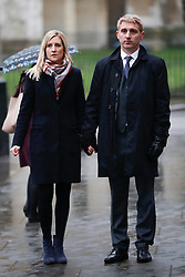 © Licensed to London News Pictures. 31/01/2017. London, UK. Jon Platt and his wife Sally arrive at the Supreme Court in Parliament Square.  Isle of Wight council attempted to fine Mr Platt for taking his daughter on holiday in term time - but magistrates overturned the fine. The Council is appealing a High Court ruling again backing the father. Photo credit: Peter Macdiarmid/LNP