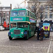 NLD/Den Haag/20180117 - Aftrap Lees met andermans ogen, Groene dubbeldekker