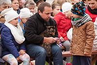 09.10.2016 Choroszcz woj podlaskie  N/z swiecenie zwierzat w miejscowej parafii w dniu sw Franciszka z Asyzu fot Michal Kosc / AGENCJA WSCHOD