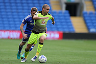 Joey Van Den Berg of Reading in action.  EFL Skybet championship match, Cardiff city v Reading at the Cardiff city stadium in Cardiff, South Wales on Saturday 27th August 2016.<br /> pic by Andrew Orchard, Andrew Orchard sports photography.