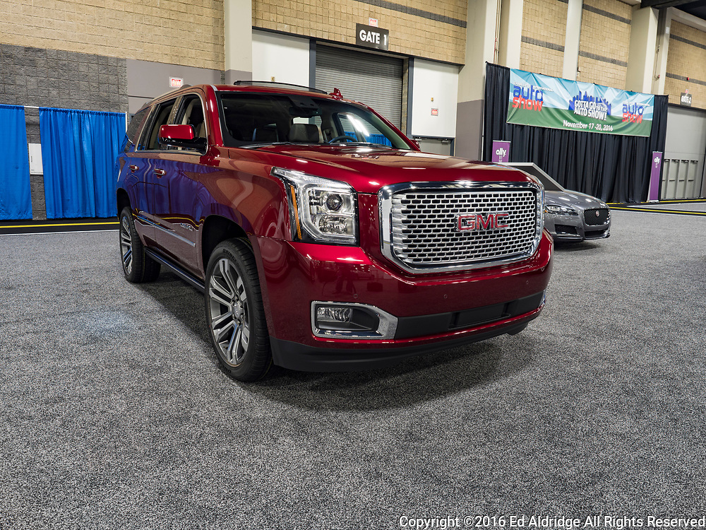 CHARLOTTE, NC, USA - NOVEMBER 17, 2016: GMC Yukon Denali on display during the 2016 Charlotte International Auto Show at the Charlotte Convention Center in downtown Charlotte.