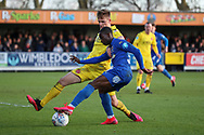 AFC Wimbledon defender Paul Osew (37) dribbling into the box during the EFL Sky Bet League 1 match between AFC Wimbledon and Fleetwood Town at the Cherry Red Records Stadium, Kingston, England on 8 February 2020.
