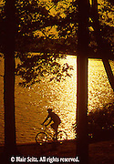 PA landscapes Biking in PA Bicycling, Young Male, PA Lake Sunset