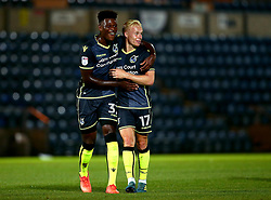 Rollin Menayese of Bristol Rovers and Ryan Broom of Bristol Rovers celebrate victory over Wycombe Wanderers - Mandatory by-line: Robbie Stephenson/JMP - 29/08/2017 - FOOTBALL - Adam's Park - High Wycombe, England - Wycombe Wanderers v Bristol Rovers - Checkatrade Trophy