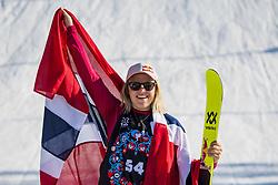 May 19, 2018 - Fornebu, NORWAY - 180519 Tiril Sjaastad-Christiansen of Norway celebrates the third place after the women's big air ski finals during X Games Norway on May 19, 2018 in Oslo. .Photo: Vegard Wivestad Grøtt / BILDBYRÃ…N / kod VG / 170170 (Credit Image: © Vegard Wivestad GrØTt/Bildbyran via ZUMA Press)