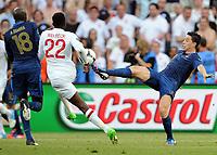 Fotball , 11. juni 2012 , Euro , England - Frankrike<br /> v.l. Alou Diarra, Danny Welbeck (England), Samir Nasri<br /> Norway only