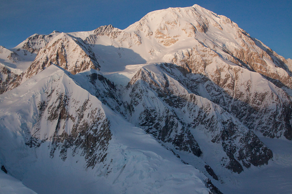 Close up view of Mt. McKinley on plane excursion